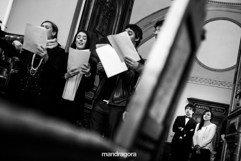 Coro de boda en Irún