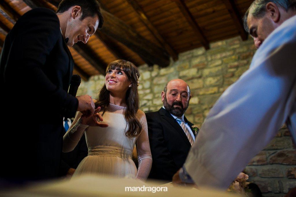 ceremonia de boda en santiagotxo