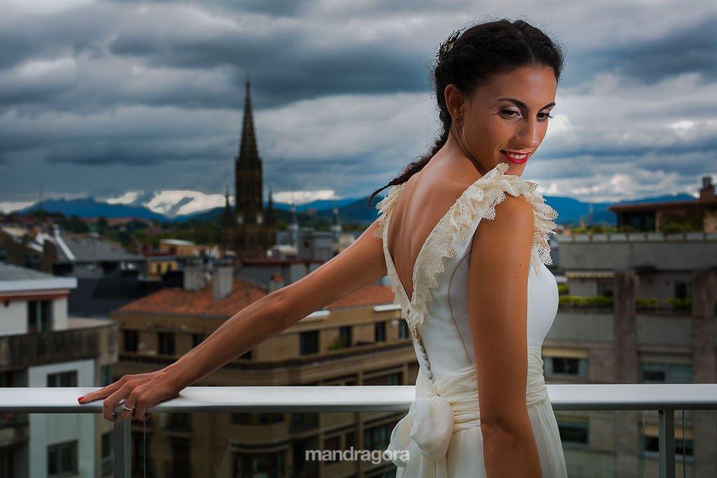retrato de boda en hotel londres de san sebastián