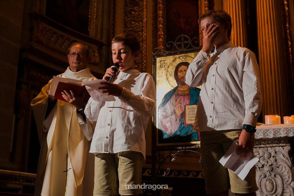 ceremonia de boda en iglesia de santa maría de donostia