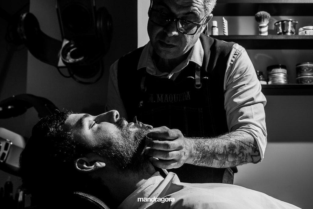 Barbería para bodas. Mario Maqueda
