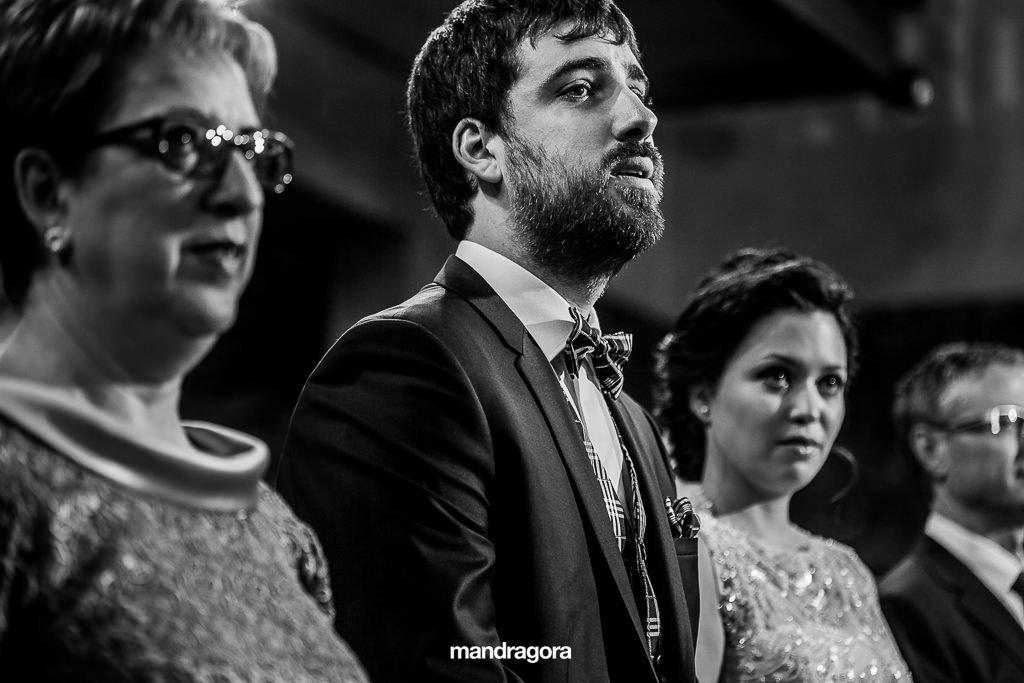 Ceremonia de boda en iglesia de aiete
