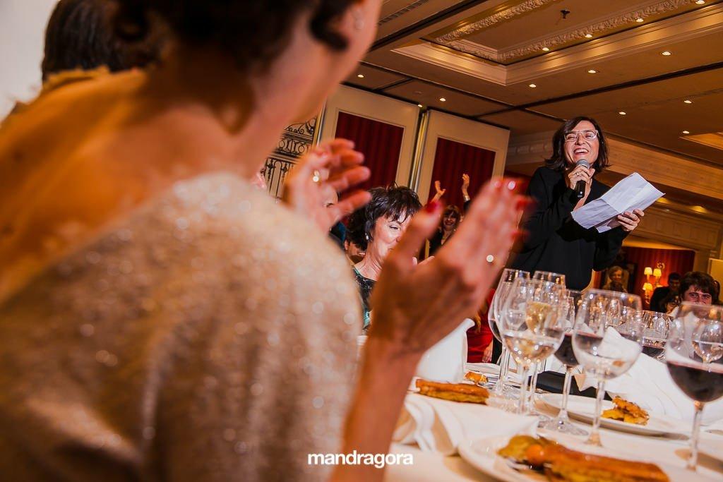 Discurso de boda en San Sebastián