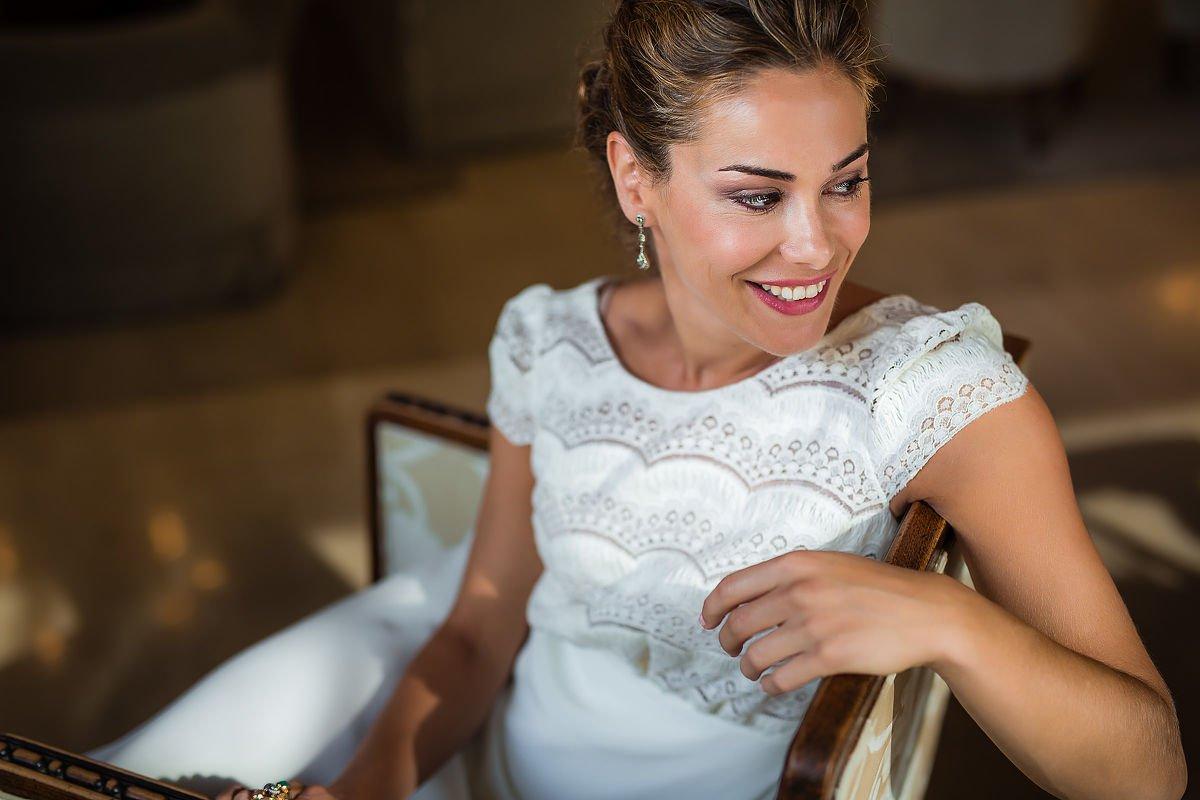 Retrato de novia en Hotel Niza de San Sebastian