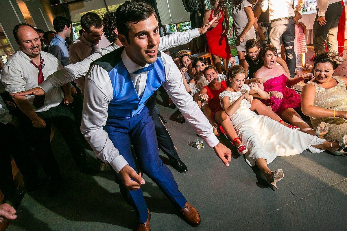 Fiesta de boda en restaurante alameda de hondarribia