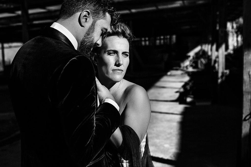 retrato de pareja en boda