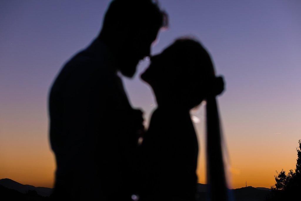 Foto de boda. Atardecer