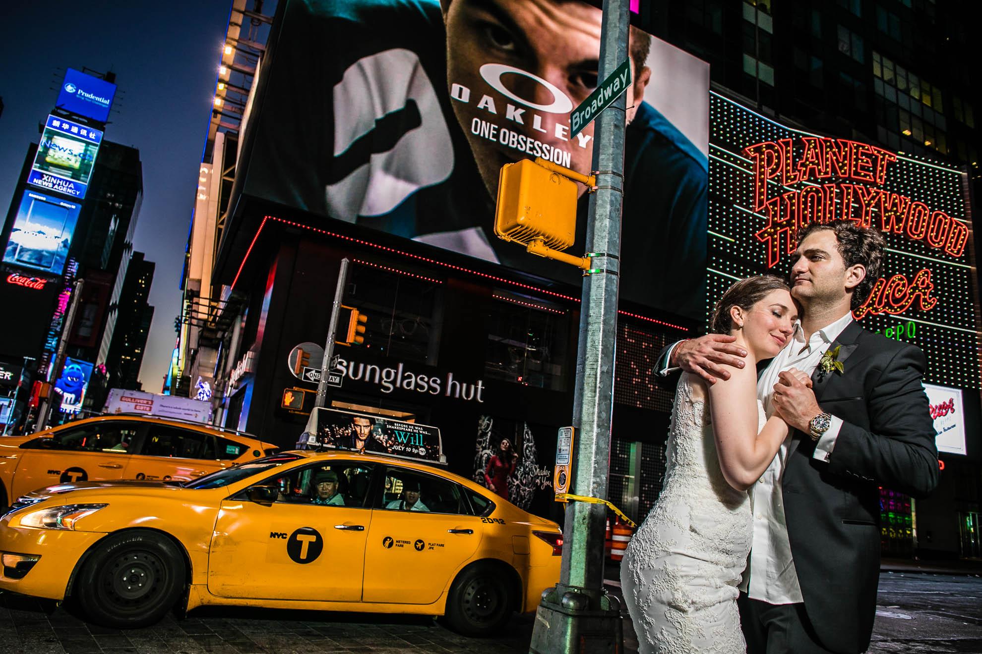 Foto de boda en Times Square, Nueva York