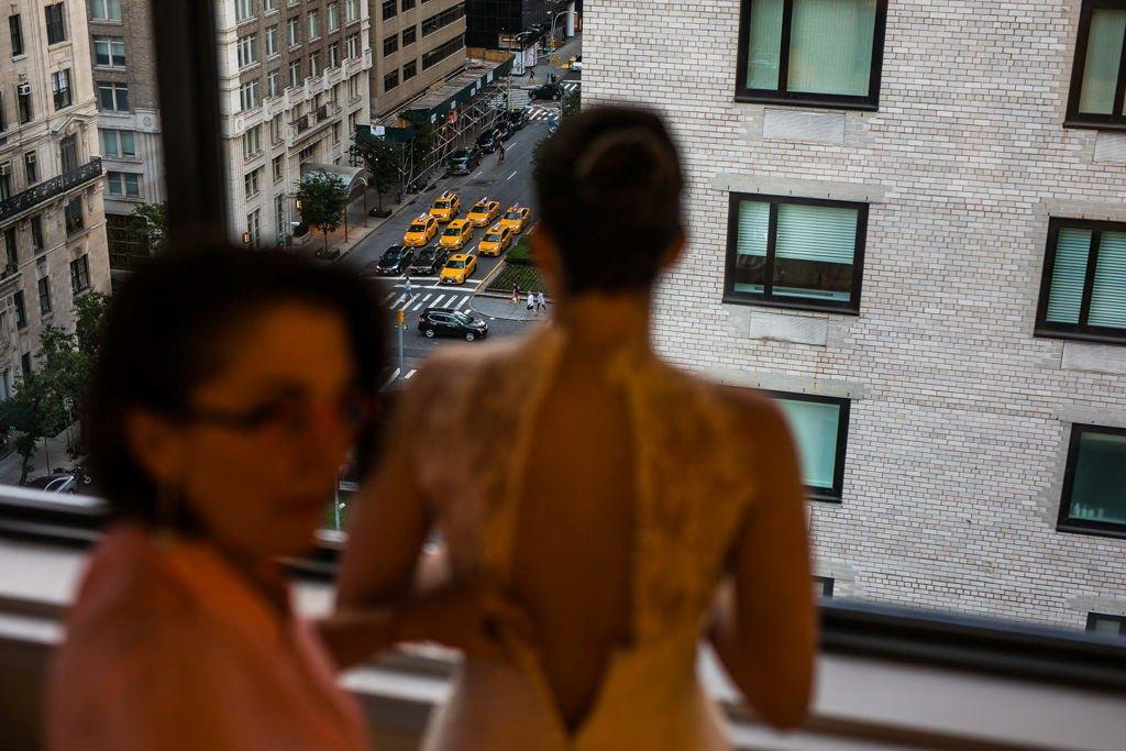 Preparativos de novia. Taxis. Nueva York