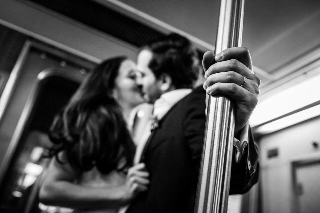 Foto de boda en metro de nueva york