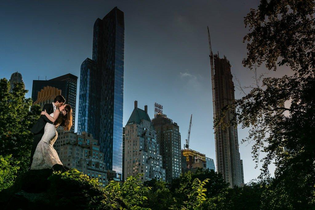 Foto de boda en Central Park. Nueva York