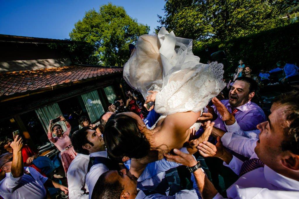 fotografos de boda en restaurante mugaritz