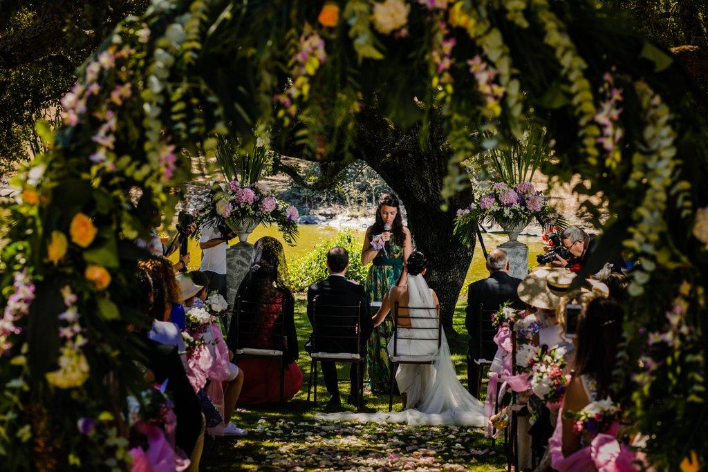 Ceremonia de boda en finca las ahijaderas de pedro llen. Salamanca