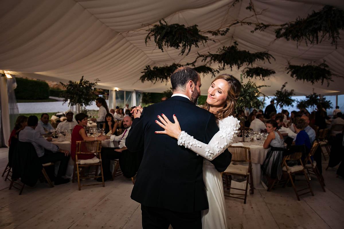 boda con vistas a la playa de la concha