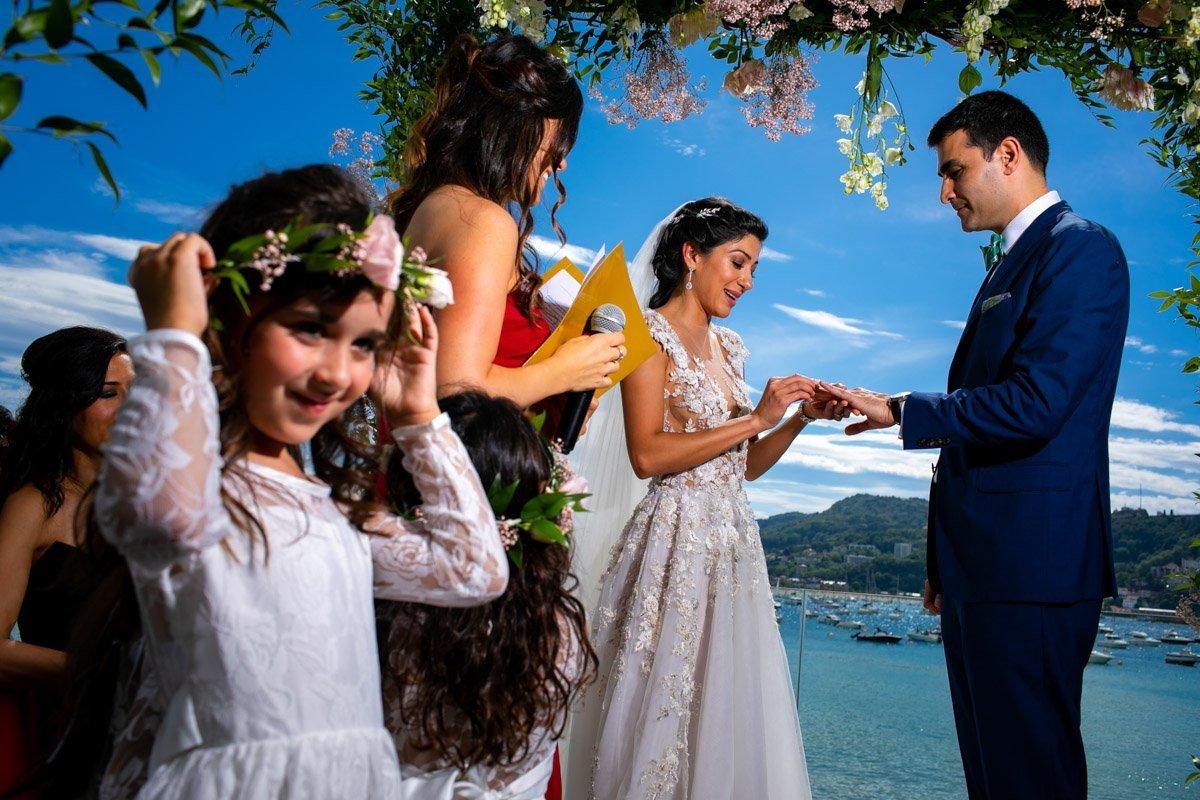 Ceremonia de boda en GU San Sebastián