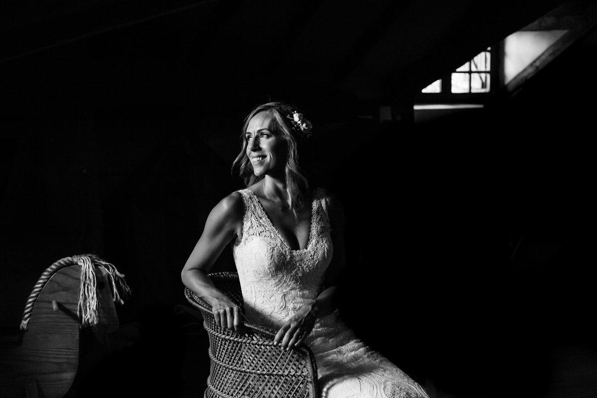 retrato de novia. Caserío en oiartzun